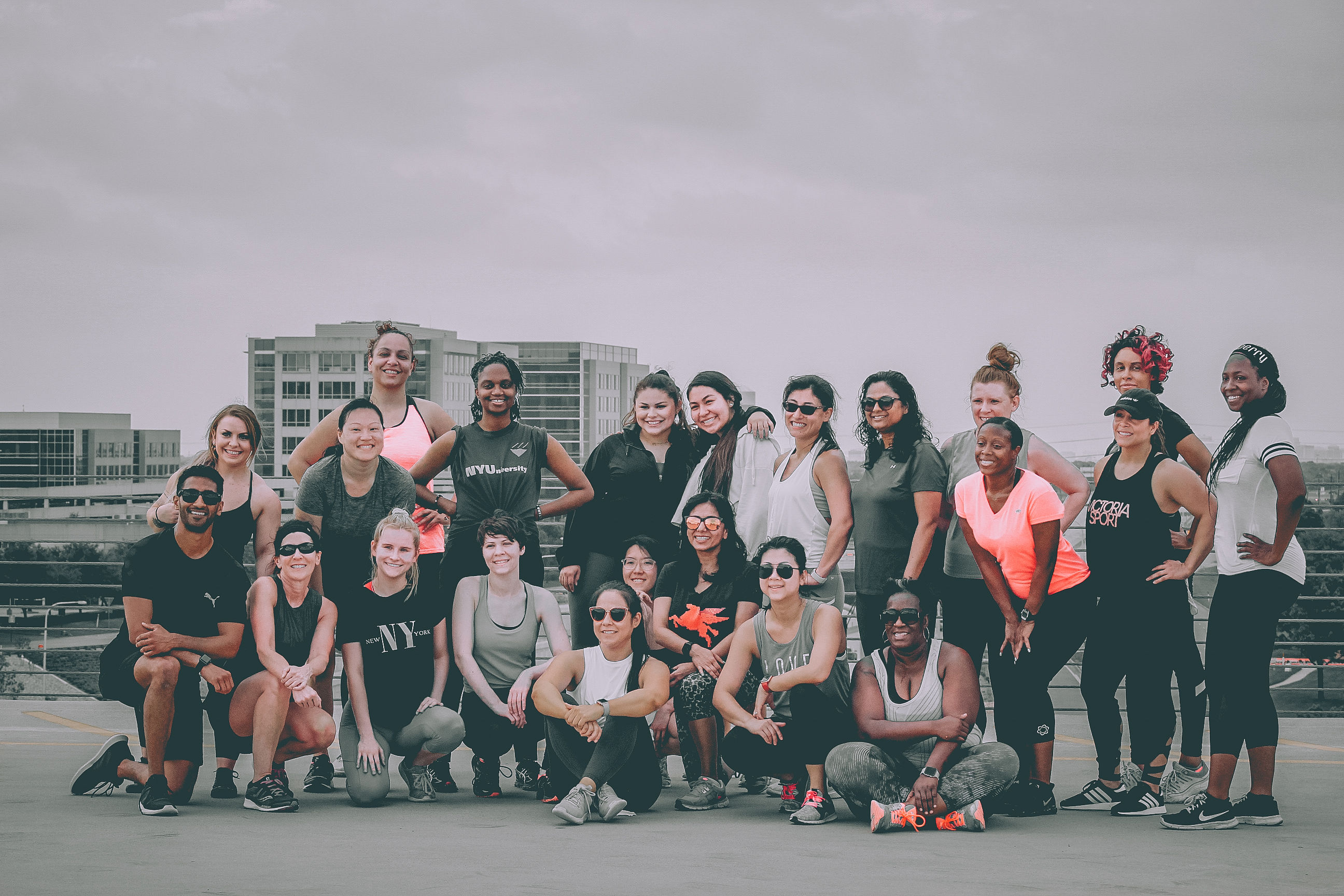 Swetin with Stacy Bootcamp at Legacy West garage rooftop
